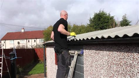 replace  compton apex garage roof youtube