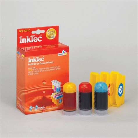 inktec color refill kit for canon 221 color ink cartridges bki 9021c ebay