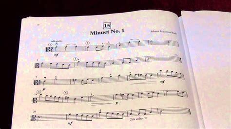 Minuet 1 Suzuki by Suzuki Viola School Vol 1 No 15 Minuet No 1