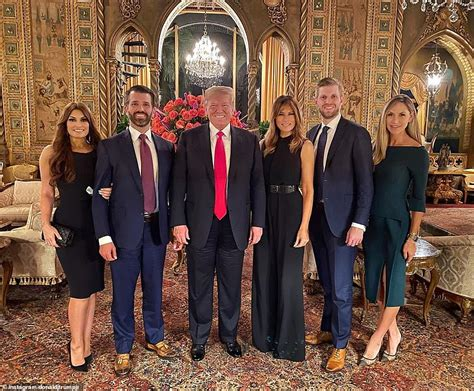 trump president lago mar thanksgiving donald melania jr wife son kimberly guilfoyle dinner force air his daughter belated eric ivanka