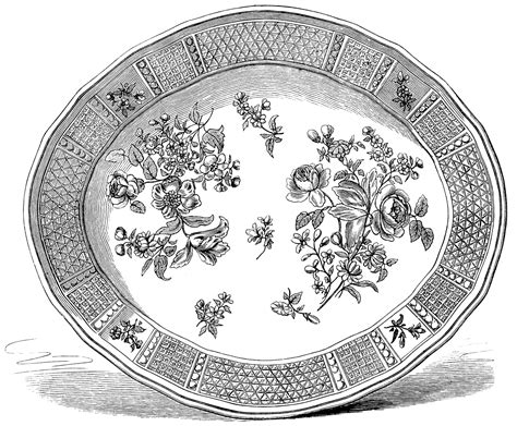 Teller Vintage by Free Vintage Clip Images Vintage Plates And Dishes