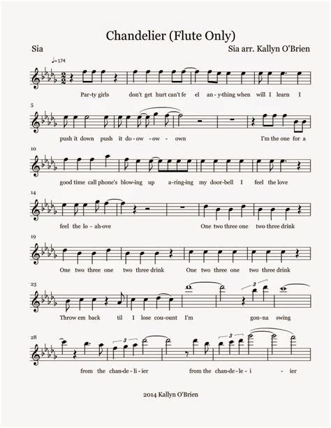 flute sheet chandelier sheet