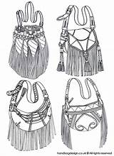 Sketch Bag Sketches Handbags Purse Handbag Fringe Bags Drawing Emily Illustration Rendering Rourke Drawings Designer Coroflot Leather Purses Flat Tasche sketch template