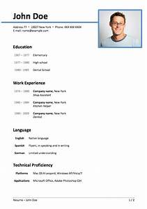 Personal Profile Format In Resume 50 Free Microsoft Word Resume Templates For Download