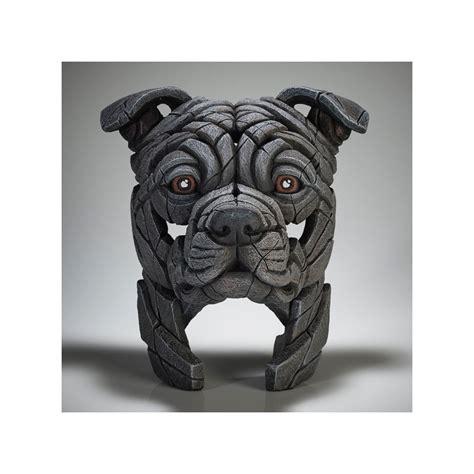 edge sculpture staffordshire bull terrier blue pre