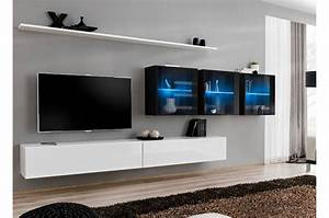 Banc Tv Suspendu : meuble tv moderne suspendu costa 17 cbc meubles ~ Teatrodelosmanantiales.com Idées de Décoration