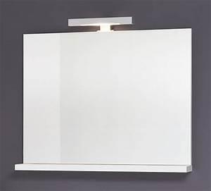 Spiegel Mit Ablage Weiß : sieper girona spiegel wei mit 1 x halogenstab und ablage ma e ~ Indierocktalk.com Haus und Dekorationen