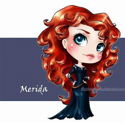 Merida Disney Princess Brave Deviantart Chibi Princesses