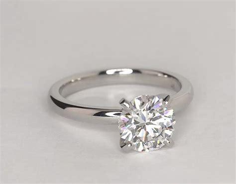 classic comfort fit solitaire engagement ring in platinum