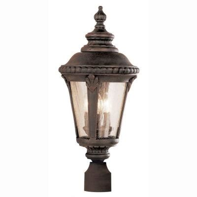 bel air lighting way 3 light outdoor rust post top