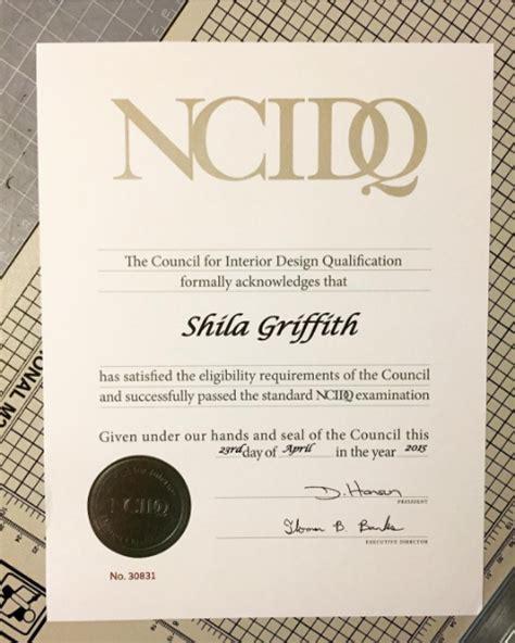 ncidq certification printed certificate sg design