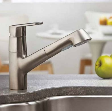 grohe europlus kitchen faucet europlus kitchen faucet by grohe kitchens richmond