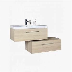 aquazur meuble salle de bain deux tiroirs decales With meuble deux vasque salle de bain