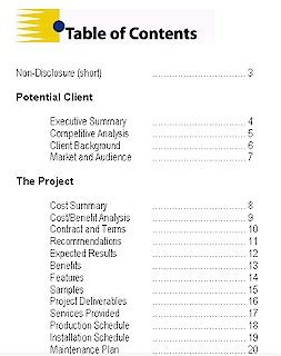 proposal template sample