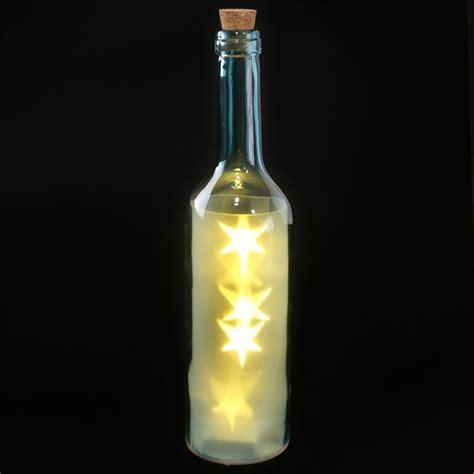 wine bottle led lights glass wine bottle led lights 29cm high star effect battery