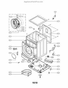Parts For Lg Wm3455hs  Cabinet And Control Assembly Parts