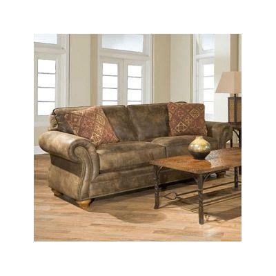 Broyhill Laramie Sleeper Sofa by Broyhill Laramie Microfiber Sofa In Distressed Brown
