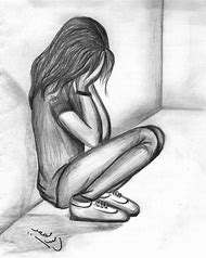 Sad Girl Crying Pencil Drawings