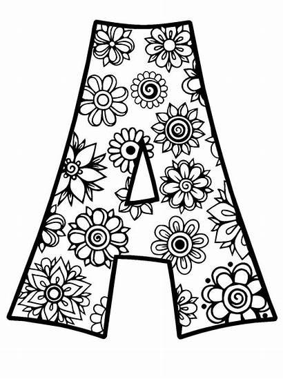 Svg Flowers Alphabet Pdf Cricut Coloring Adult