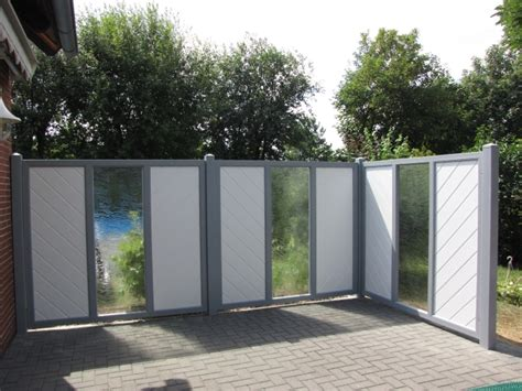 Sichtschutz Garten Verschiebbar by Sicht Und Windschutz Mit Glaselementen