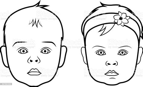 3 svg (for all variants). Realistic Baby Face Icon Isolated Vector Illustration On ...