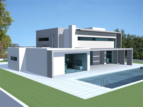plan de maison design plein pied studio design