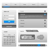 web elements template icons slider banner  buttons