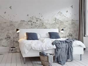Papier Peint Chambre Adulte Tendance 2017 : un papier peint noir et blanc pour un mur l gant papier ~ Dailycaller-alerts.com Idées de Décoration
