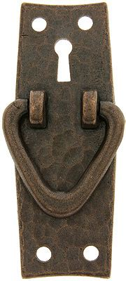 stickley style arts crafts vertical pull  keyhole