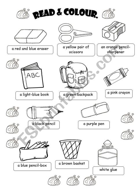 classroom objects esl worksheet  fabiola salinas
