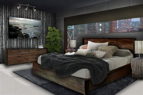 Bedroom Decorating Ideas For Wood by Mens Bedroom Decorating Ideas With Clasic Wood