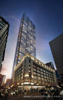 luxury boston millennium tower boston  construction