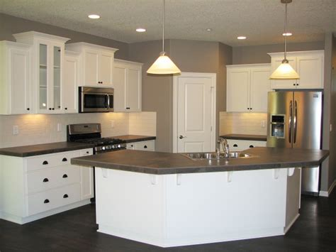 kitchen island with corbels the camden home plan vancouver wa evergreen homes