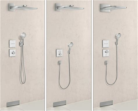 hansgrohe shower hansgrohe legt showerselect dusch thermostate unter putz
