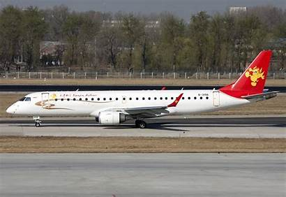 Airlines Tianjin Flight Plane Embraer E190 Chinese