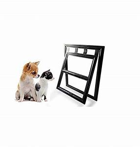 lesypet magnetic dog door automatic lock pet window screen With dog door that locks automatically