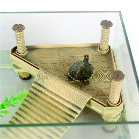 Turtle Decorations by Turtle Climbing Bask Island Platform Aquatic Pet Supplies