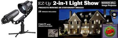 ez up light show holiday projector hend joh ez up two in one stationary and moving light shows 86632 winter 2013
