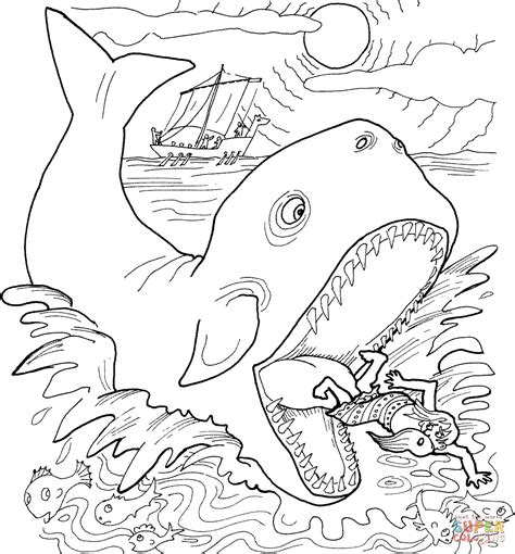 Jonah Coloring Pages Printable Printable Coloring Page