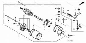 Honda Atv 2005 Oem Parts Diagram For Starter Motor