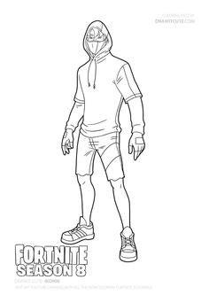 fortnite battle royale coloring page master key skin season  lego raskraski raskraski