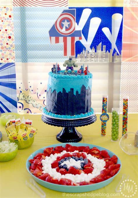 lego superhero birthday party  scrap shoppe