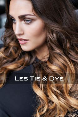 tie and dye sur brune coiffure tie and dye sur brune