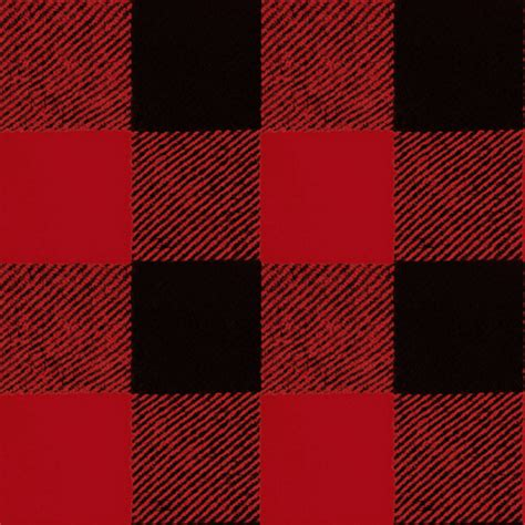 Buffalo Check  Red Flannel Fabric Willowlanetextiles