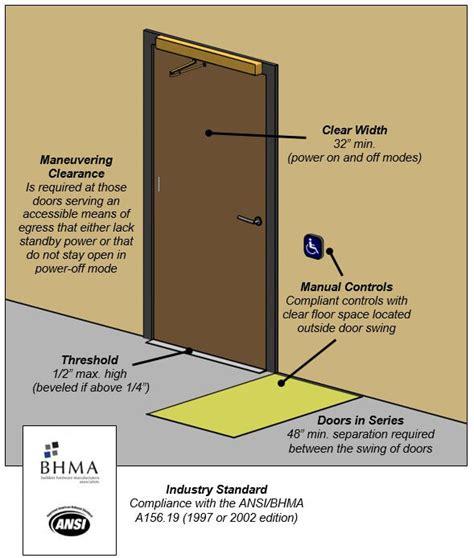 ada door clearance ada compliance and sun mountain custom wood doors
