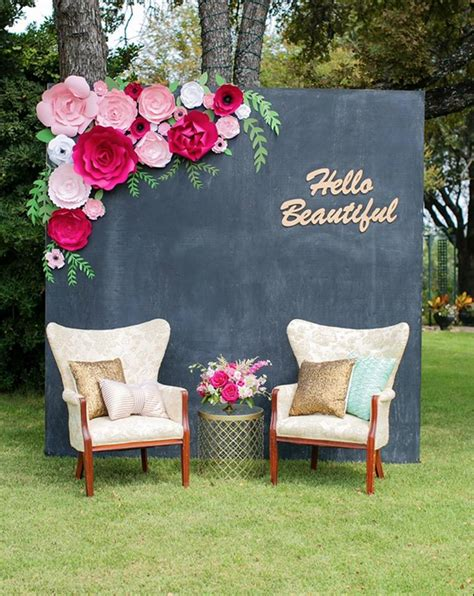 paperflora paper flower walls backdrops  home decor