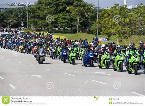 Motogp Biker Convoy Editorial Stock Photo. Image Of Many