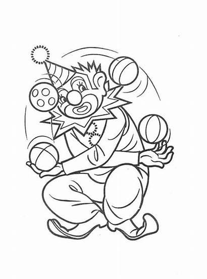 Clown Clowns Ausmalbilder Kleurplaten Malvorlagen Badut Mewarnai