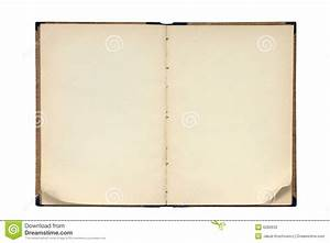 Open Old Blank Book Stock Photos - Image: 6280633