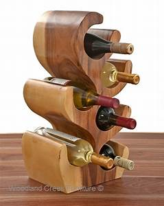 Unique Wood Wine Bottle Holder, Natural Wine Rack